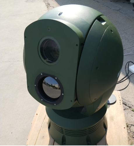 Night Vision PTZ Thermal Surveillance System Long Range Camera Link With Radar